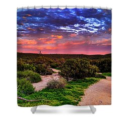 Scenic Trailhead Shower Curtain