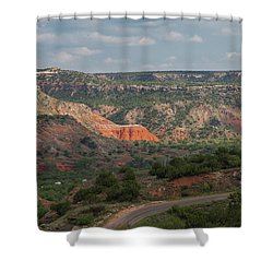 Scenic View Of Palo Duro Canyons Shower Curtain