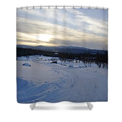 Scenic Vista From Marshfield Station In The White Mountains New Hampshire Usa Shower Curtain by Erin Paul Donovan