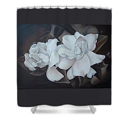 Scent Of Gardenias Shower Curtain by Daniela Easter