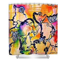 Schlieren Chiarascuro Shower Curtain