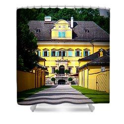 Schloss Hellbrunn Shower Curtain by Carol Groenen