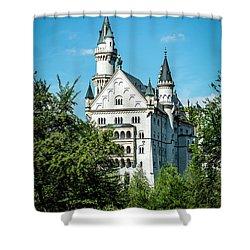 Shower Curtain featuring the photograph Schloss Neuschwantstein by David Morefield