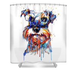Schnauzer Head Shower Curtain
