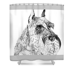 Schnauzer Portrait Shower Curtain