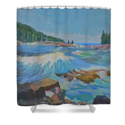 Shower Curtain featuring the painting Schoodic Inlet by Francine Frank