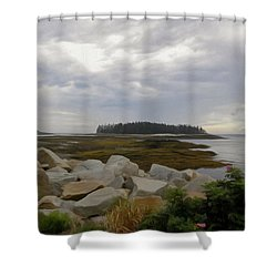 Schoodic Point Maine Shower Curtain
