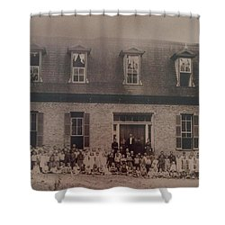School 1895 Shower Curtain