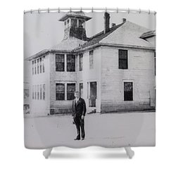 School 1901 Back Shower Curtain
