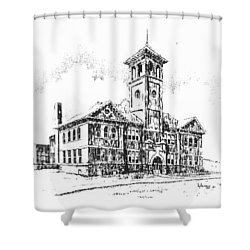 School Historic Philipsburg Montana Shower Curtain by Kevin Heaney