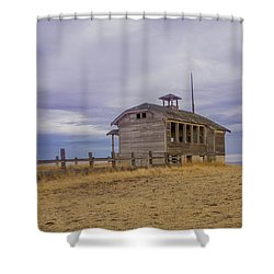 School House Shower Curtain by Jean Noren
