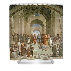 School Of Athens From The Stanza Della Segnatura Shower Curtain