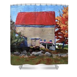 Schoolhouse Farm, Warren, Maine Shower Curtain