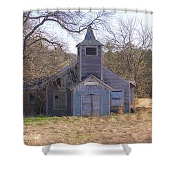 Schoolhouse#3 Shower Curtain by Susan Crossman Buscho