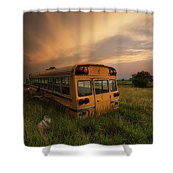 Shower Curtain featuring the photograph School's Out  by Aaron J Groen