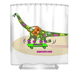Schools Out For Dinosaurs Shower Curtain