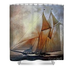 Schooner America In 1910.   Shower Curtain