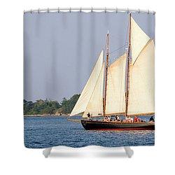 Schooner Cruise, Casco Bay, South Portland, Maine  -86696 Shower Curtain