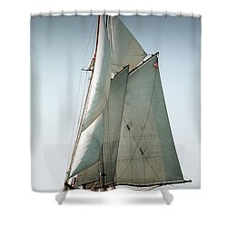 Schooner Ernestina Shower Curtain