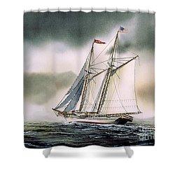 Schooner Heritage Shower Curtain by James Williamson
