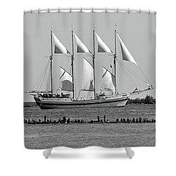 Schooner On Lake Michigan No. 1-1 Shower Curtain