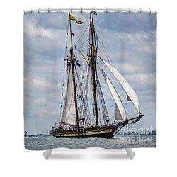 Schooner Pride Of Baltimore Shower Curtain