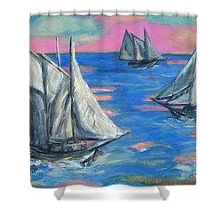 Schooner Seas Shower Curtain