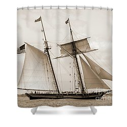 Schooners Pride Of Baltimore And Lynx Shower Curtain