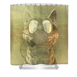 Schrodinger Underestimates The Cat. Shower Curtain by Carol and Mike Werner
