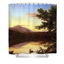 Schroon Lake 1840 Shower Curtain