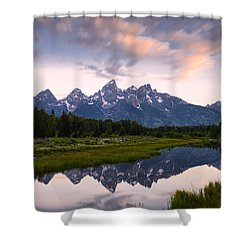 Shower Curtain featuring the photograph Schwabacher Landing In 60 Seconds by Dan Mihai