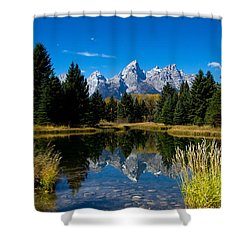 Schwabacher Landing Reflection Shower Curtain