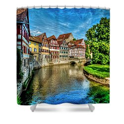 Shower Curtain featuring the photograph Schwabish Hall by David Morefield