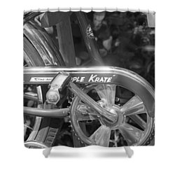 Schwinn Apple Krate Shower Curtain by Lauri Novak