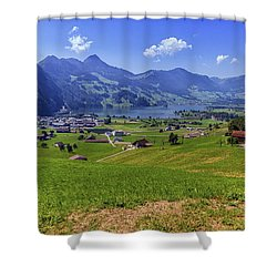 Schwyz And Zurich Canton View, Switzerland Shower Curtain