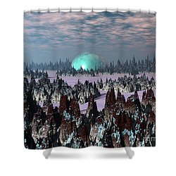 Sci Fi Landscape Shower Curtain