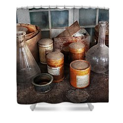 Science - Chemist - Ready To Experiment Shower Curtain by Mike Savad