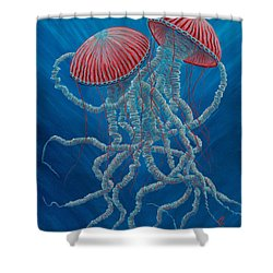 Scifi Jellies Shower Curtain