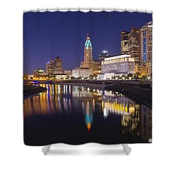 Scioto Reflections - Columbus Shower Curtain