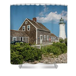 Scituate Lighthouse In Scituate, Ma Shower Curtain