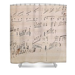 Score Sheet Of Moonlight Sonata Shower Curtain