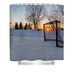 Shower Curtain featuring the photograph Scoring The Sunset 2 by Darcy Michaelchuk
