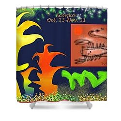 Shower Curtain featuring the digital art Scorpio by The Art of Alice Terrill