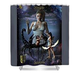 Scorpio Shower Curtain by Joseph Soiza