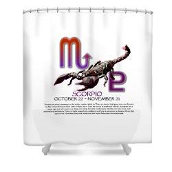 Scorpio Sun Sign Shower Curtain