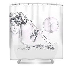 Scorpion Pen Shower Curtain