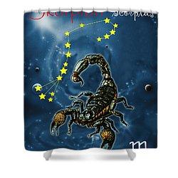 Scorpius And The Stars Shower Curtain