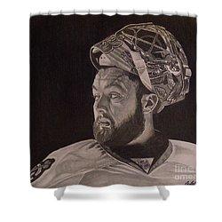 Scott Darling Portrait Shower Curtain by Melissa Goodrich