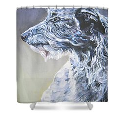 Scottish Deerhound Shower Curtain by Lee Ann Shepard