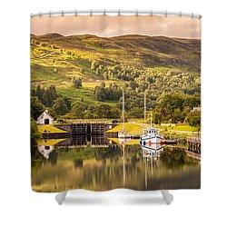 Scottish Loch 3 Shower Curtain